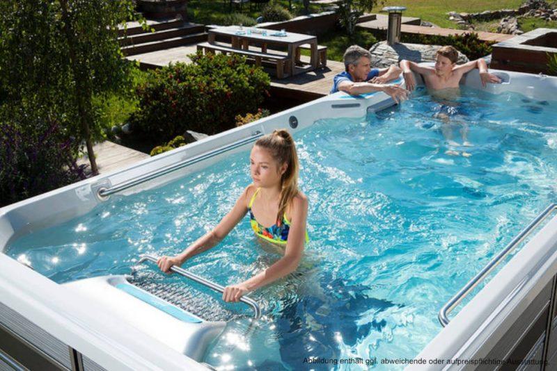 Spadeluxe - Endless Pools Swim Spa E500 Garten